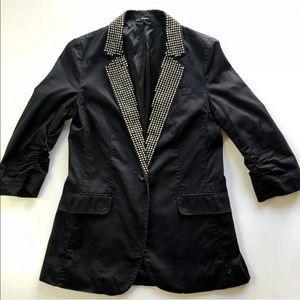 Express Boyfriend Blazer Ruched Sleeve Suit